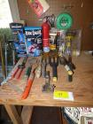 Lawn and Garden hand tools, torch kits, fire extinguisher, weed eater line