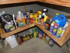 Large lot of misc. chemicals, sprays, oils, lubricants, misc.