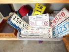 Tote full of misc license plates