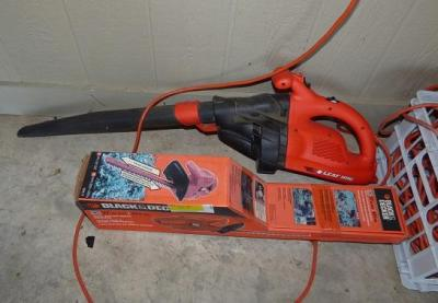 "Black and Decker 17"" electric trimmer and Black and Decker Electric blower"