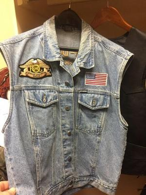 Harley Davidson Jean Vest, Leather Jacket and Leather vest - all size large