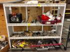 "Metal Shelf ( 5'9"" Wx 4'10 1/2""H x 1'6"" D) & Contents (Plugins, Hard Hats, Fuses, & Much More"