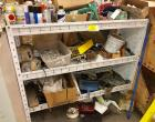 "Metal Shelf W/Misc. Contents (4'3""w x 3'8""h x 1'6""d)"