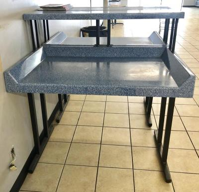 "Laundry Folding Table - 4' W x 2' 1/2"" D x 4' 2"" H"