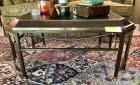 Metal Coffee Table W/ Marble Top & Brass Accents - Made in Italy