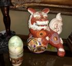 Foo Dog  and Decorative Egg