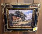 Framed Country Landscape with Farmhouse
