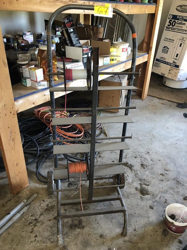 10 Spool Wiring Cart on