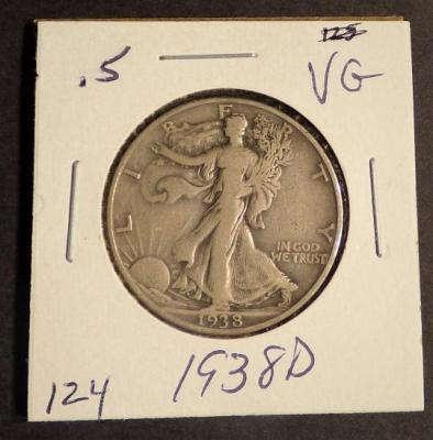 1938-D Liberty Walking Half Dollar