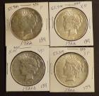 3 1922 and 1 1922 -D Peace Silver Dollars