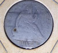 1855 O Liberty Seated Half Dollar
