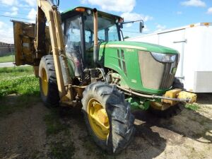 2015 John Deere 5100E Utility Tractor with Boom Flail Mower