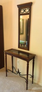 Small Sofa Table & Mirror
