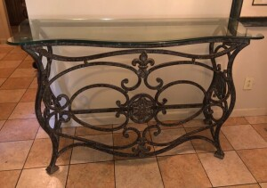Large Glass Entry Way Table