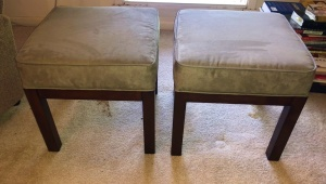 2 Matching Fabric Stools