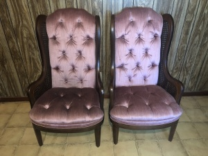 Set of 2 High Back Chairs