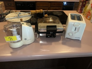 Deluxe Chopper, Black & Decker Grill/Waffle Maker, Toaster, Theater II Popcorn Popper