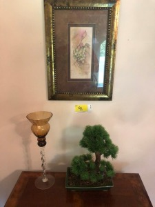 Picture, Topiary, Decorative Glass Vase