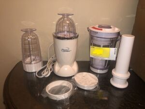Cooks Essential Stainless Steel 2-Tier Mini Steamer w/Timer, Power Chopper, Bravetti Multi Mixer
