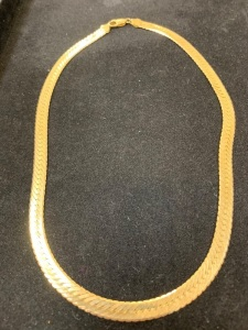 14kyg Wider Herringbone Necklace, 26.3 gms