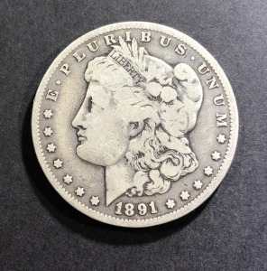 1891-O MORGAN SILVER DOLLAR