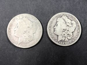 (2) 1883 MORGAN SILVER DOLLARS
