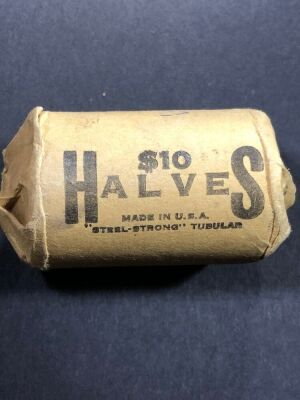 1 ROLL SILVER HALF DOLLARS (20 COINS) DATES NOT CHECKED