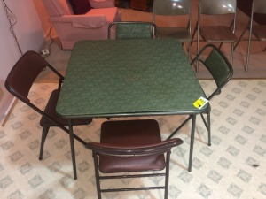 Folding Card Table & 7 Chairs