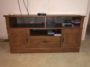 TV Stand, Misc. DVD's (some blank)