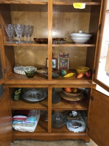 Pfaltzgraft bowls and Misc. (contents of china cabinet, cabinet NOT included)