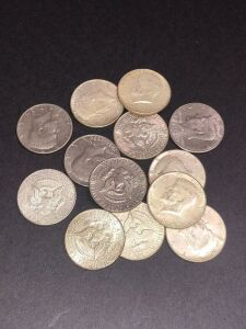 10 - 1964 and (1) 1973, (1) 1974, (1) 1976 Kennedy Halves
