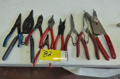 Various Retaining Ring Pliers