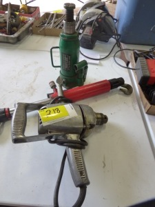 "1/2 Ton Bottle Jack, Porta Power Pully, 1/2"" Electric Drill"