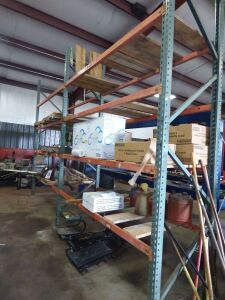 Steel Shop Shelving - 17' W x 12' H x 3' D, 4 Shelves (Contents of Shelves not included)