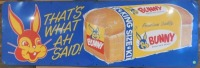 BUNNY BREAD THAT'S WHAT AH SAID! ADVERTISING SIGN VINTAGE ANTIQUE 54 W X 18 H