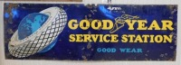 GOOD YEAR SERVICE STATION ADVERTISING SIGN VINTAGE ANTIQUE - 2