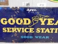 GOOD YEAR SERVICE STATION ADVERTISING SIGN VINTAGE ANTIQUE - 3