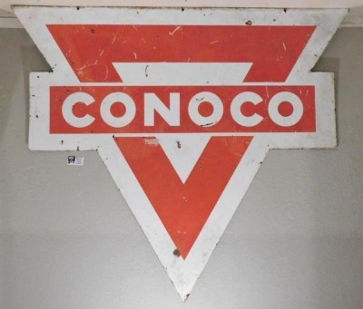CONOCO ADVERTISING SIGN VINTAGE ANTIQUE 71 X 76