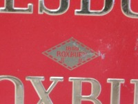 AMESBURY ROXBURY ADVERTISING SIGN VINTAGE ANTIQUE 14 X 8 - 5