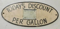 HAND PAINTED DISCOUNT ADVERTISING SIGN VINTAGE ANTIQUE 8 X 17 - 2