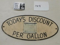 HAND PAINTED DISCOUNT ADVERTISING SIGN VINTAGE ANTIQUE 8 X 17 - 3
