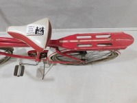 1950 WESTERN FLYER BICYCLE RED WHITE VINTAGE ANTIQUE - 5