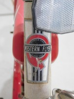 1950 WESTERN FLYER BICYCLE RED WHITE VINTAGE ANTIQUE - 6