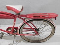 1950 WESTERN FLYER BICYCLE RED WHITE VINTAGE ANTIQUE - 8