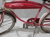 1950 WESTERN FLYER BICYCLE RED WHITE VINTAGE ANTIQUE - 9