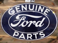 "GENUINE FORD PARTS 24"" W x 16"" H"