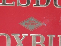 AMESBURY ROXBURY ADVERTISING SIGN VINTAGE ANTIQUE 14 X 8 - 2