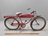 1950 WESTERN FLYER BICYCLE RED WHITE VINTAGE ANTIQUE - 3