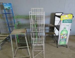 Eight miscellaneous Wire Racks