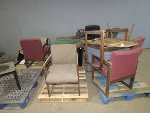 Miscellaneous Office Furniture-desk, several office chairs